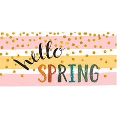 hello spring inscription vector image