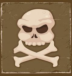 vintage skull and cross bones vector image