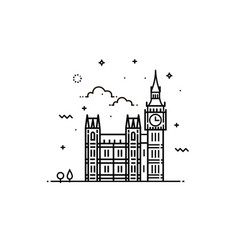big ben clock icon sign design vector image