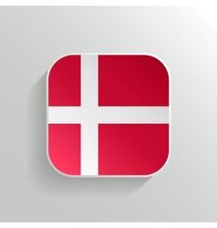 Button - denmark flag icon vector