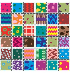Patchwork fabric vector