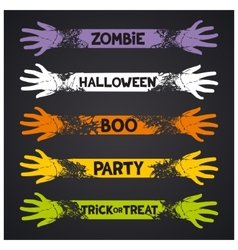 Halloween fun ribbons vector
