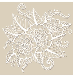 Oriental flower ornament vector