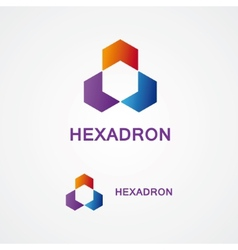 Hexagon design logo vector