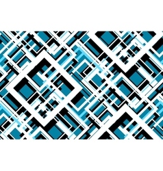 Trendy blue geometric seamless pattern vector