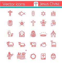Jesus icon vector
