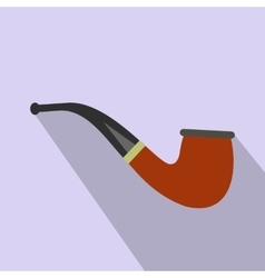 Tobacco pipe flat icon vector