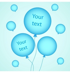 For your design with balloons vector