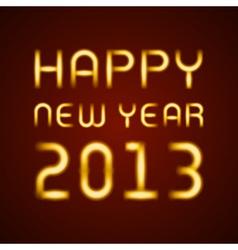 Neon light happy new year message vector image