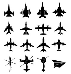Aircraft icons set vector image