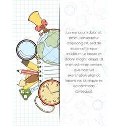 Back to school invitation card vector image