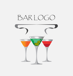 Bar logo white vector