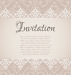 baroque damask luxury invitation vector image vector image