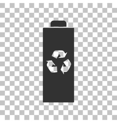 Battery recycle sign Dark gray icon vector image vector image