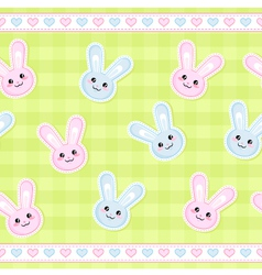 bunnies pattern vector image