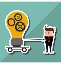 Businessman design business icon cartoon concept vector image