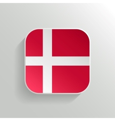 Button - Denmark Flag Icon vector image vector image