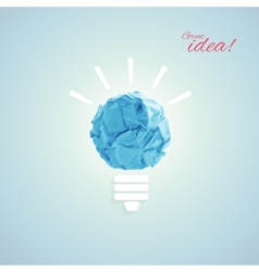 Concept with bulb vector image vector image