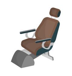 Dentist chair medicine single icon in cartoon vector