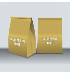 Digital recycle brown paper food bags vector