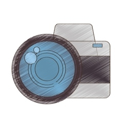 Drawing photo camera picture vacation travel vector