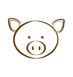 Figure pig animal head expression vector