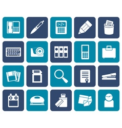 Flat Office tools Icons vector image