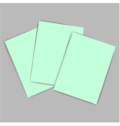 Green paper vector