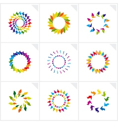 logo design elements vector image vector image