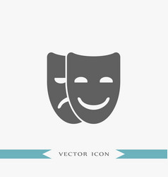 Mask icon theater vector