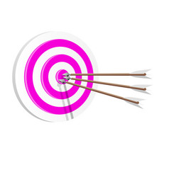target icon art web success in business concept vector image vector image