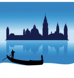 venice silhouette skyline vector image vector image