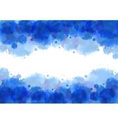 Watercolor splatters background vector