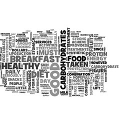 what s in a good diet text word cloud concept vector image vector image