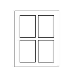 Window the black color icon vector
