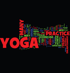 Yoga facts text background word cloud concept vector