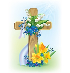 Easter cross vector image
