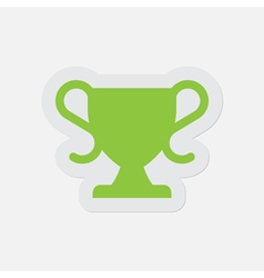 Simple green icon - sports cup vector