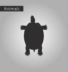 black and white style icon of turtle vector image