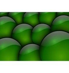 Background circles green vector