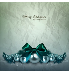 Elegant background with christmas garland vector