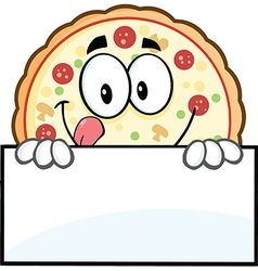 Pizza cartoon vector