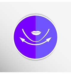 Beautiful woman face chin oval align icon vector