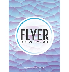 Pastel modern blue polygonal brochure flyer vector