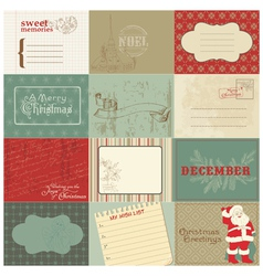 christmas vintage design vector image