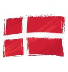 Grunge denmark flag vector