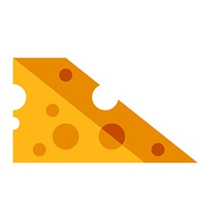 Piece of cheese flat style food icon vector