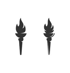 Torch icon logo on white background vector