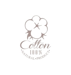 Quality cotton product logo design vector