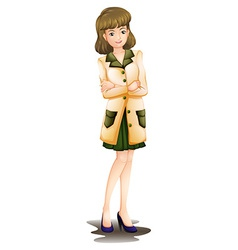 A confident woman vector image vector image